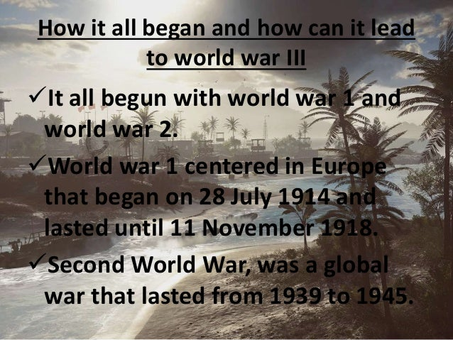 is there any chance of ww3