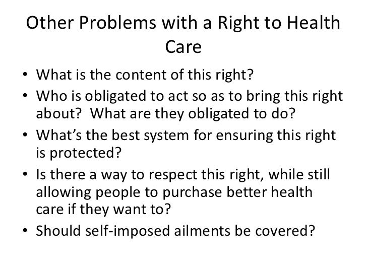 Is there a right to health care