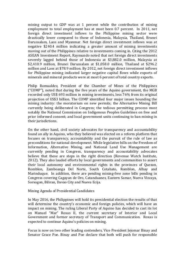 investment paper on marinduque The following outline is provided as an overview of and topical guide to the philippines:  mount malindig national park - marinduque  multilateral investment.