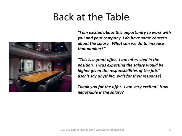"""Back at the Table             """"I am excited about this opportunity to work with             you and your company. I do hav..."""