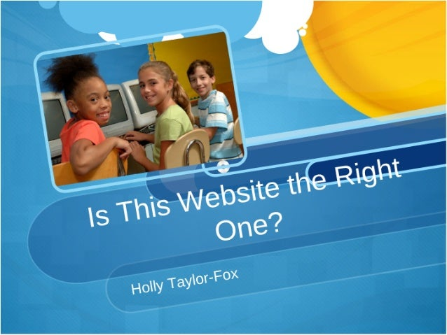 Is this website the right one