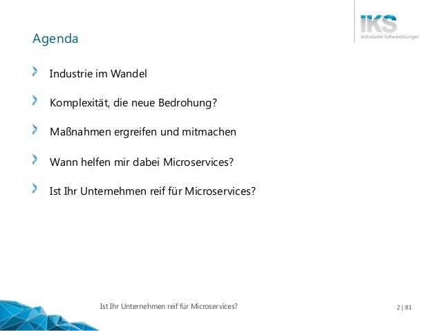 Ist Ihr Unternehmen reif für Microservices? Slide 2