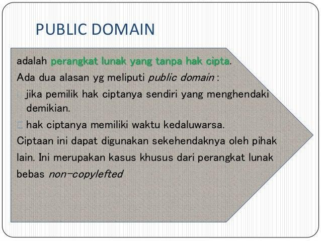 Public Domain Adalah Perangkat Lunak