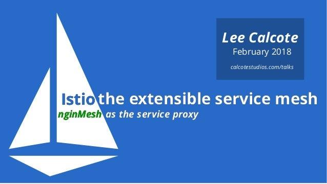 IstioIstio February 2018 Lee Calcote as the service proxyas the service proxynginMeshnginMesh calcotestudios.com/talks t...