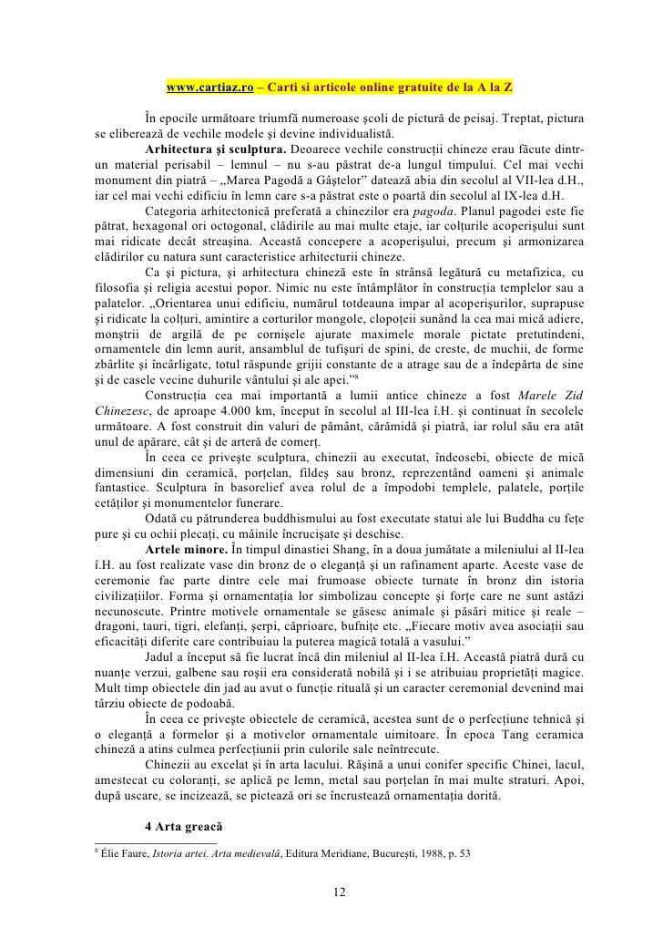 www.cartiaz.ro – Carti si articole online gratuite de la A la Z           În epocile următoare triumfă numeroase şcoli de ...