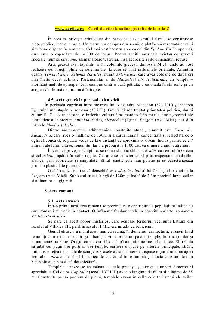 www.cartiaz.ro – Carti si articole online gratuite de la A la Z          În ceea ce priveşte arhitectura din perioada clas...