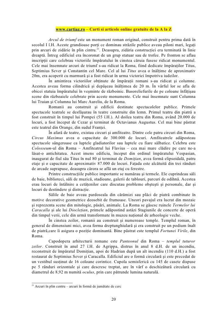 www.cartiaz.ro – Carti si articole online gratuite de la A la Z           Arcul de triumf este un monument roman original,...