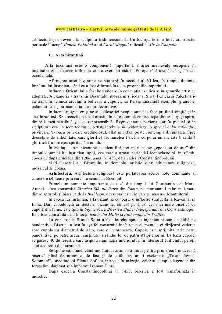 www.cartiaz.ro – Carti si articole online gratuite de la A la Zarhitectură şi a revenit la sculptura tridimensională. Un l...