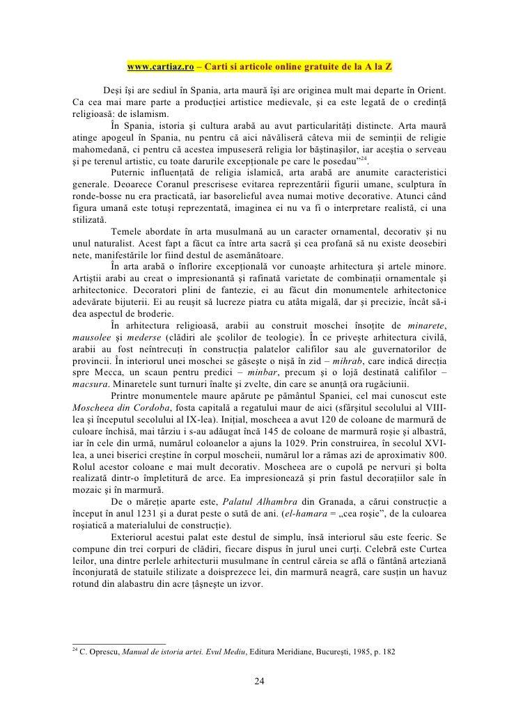 www.cartiaz.ro – Carti si articole online gratuite de la A la Z         Deşi îşi are sediul în Spania, arta maură îşi are ...