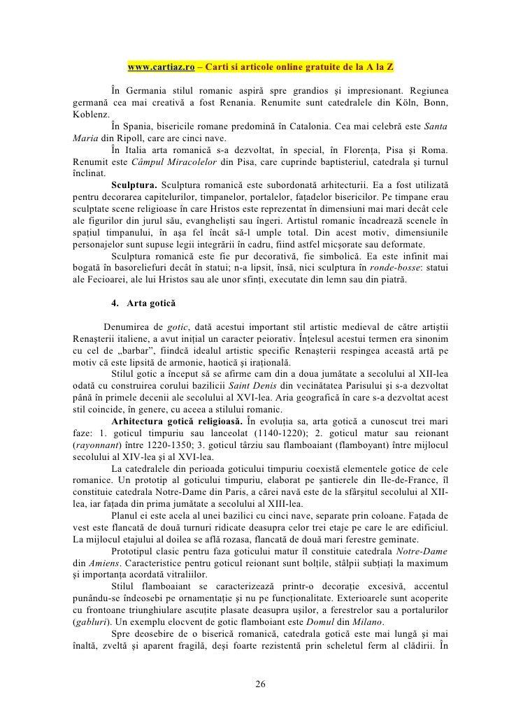 www.cartiaz.ro – Carti si articole online gratuite de la A la Z          În Germania stilul romanic aspiră spre grandios ş...