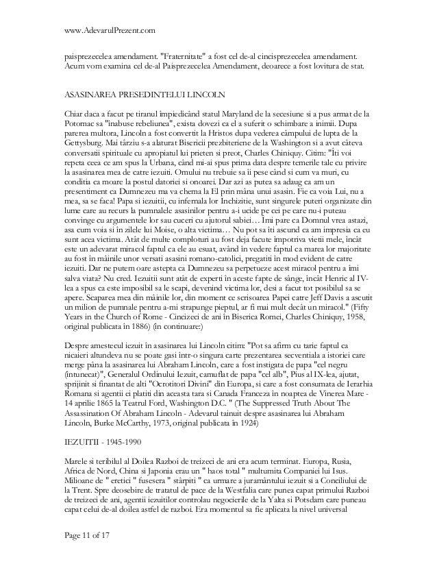 """www.AdevarulPrezent.compaisprezecelea amendament. """"Fraternitate"""" a fost cel de-al cincisprezecelea amendament.Acum vom exa..."""