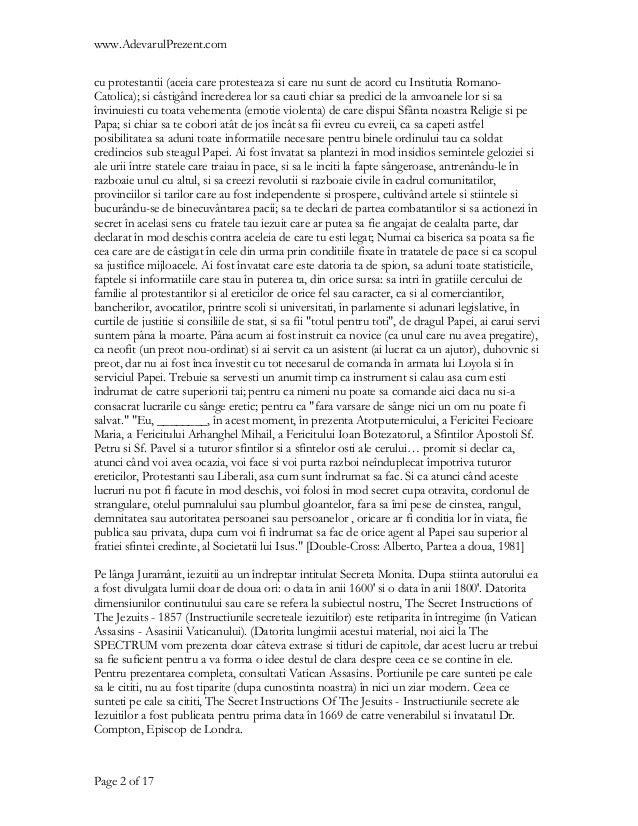 www.AdevarulPrezent.comcu protestantii (aceia care protesteaza si care nu sunt de acord cu Institutia Romano-Catolica); si...
