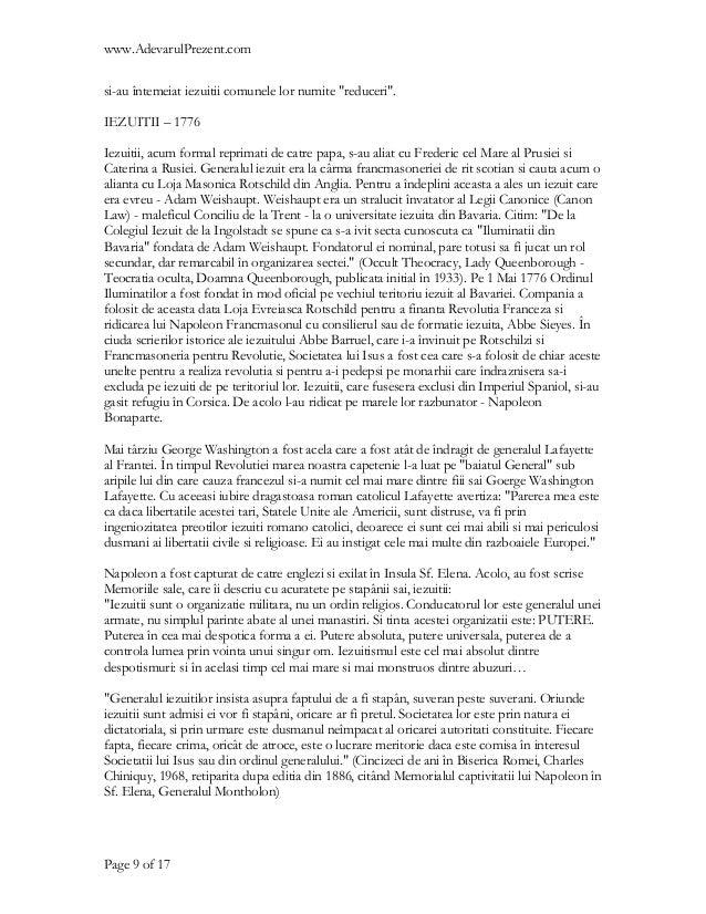 """www.AdevarulPrezent.comsi-au întemeiat iezuitii comunele lor numite """"reduceri"""".IEZUITII – 1776Iezuitii, acum formal reprim..."""