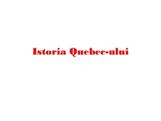 Istoria Quebec-ului