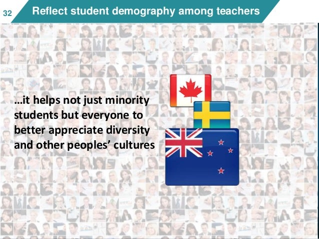 3232 Reflect student demography among teachers …it helps not just minority students but everyone to better appreciate dive...