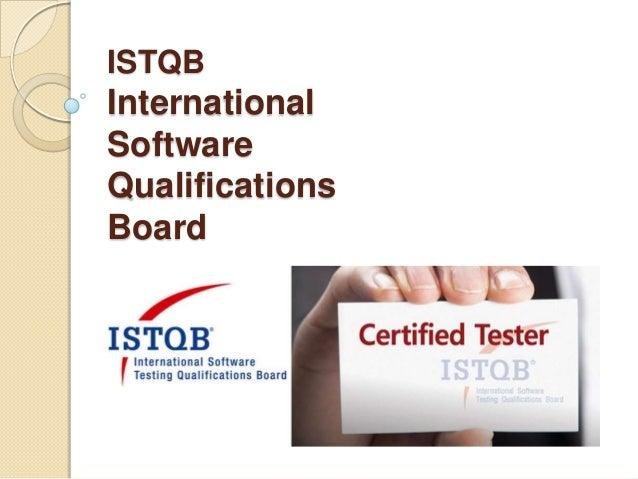 ISTQB International Software Qualifications Board