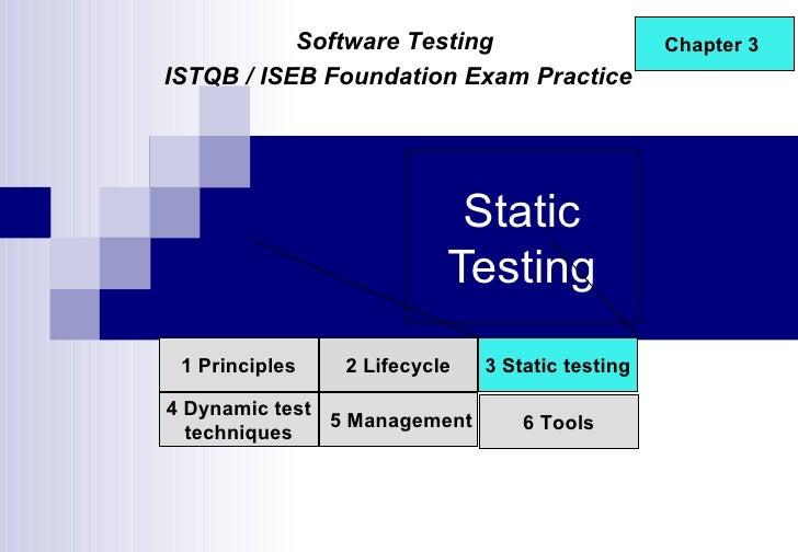 ISTQB / ISEB Foundation Exam Practice
