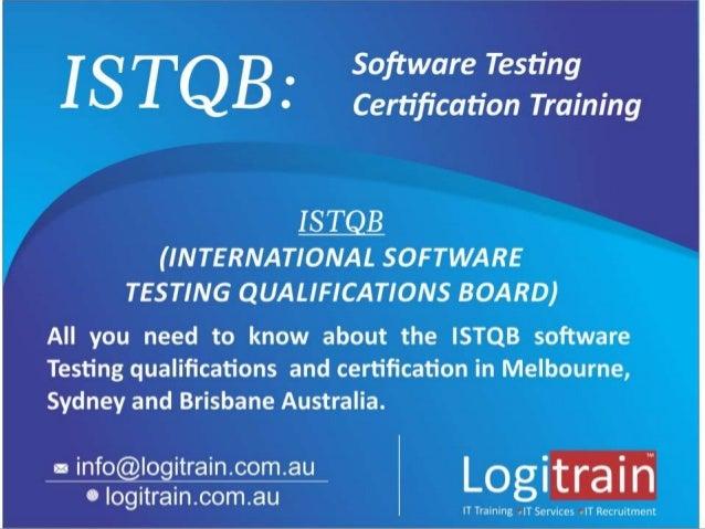 Istqb Software Testing Certification Training in Australia