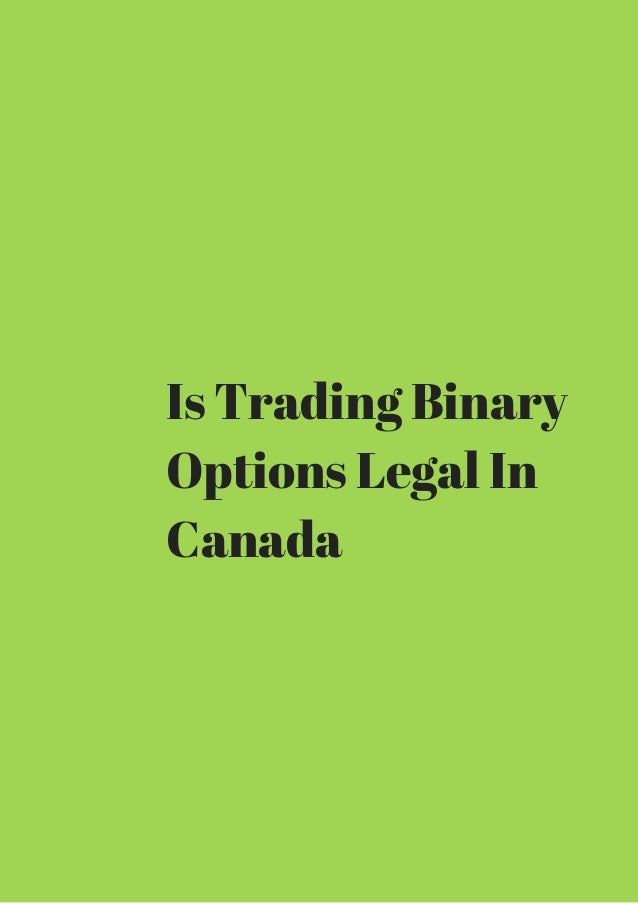 Is forex trading legal in canada