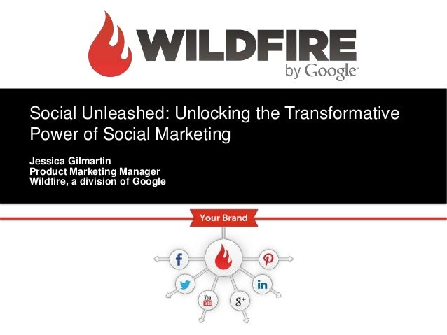 Social Unleashed: Unlocking the TransformativePower of Social MarketingJessica GilmartinProduct Marketing ManagerWildfire,...