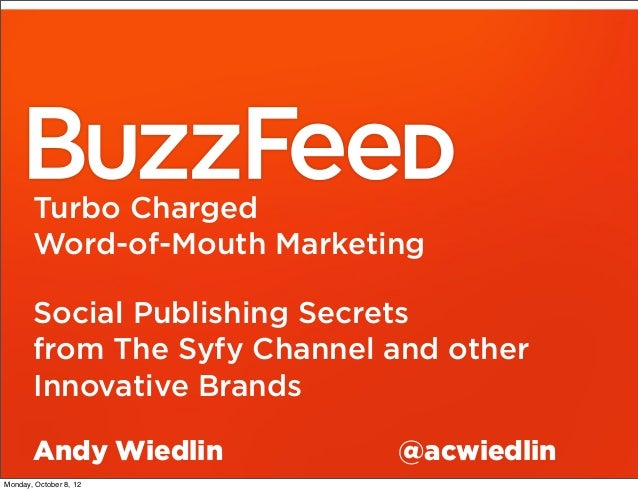 Turbo Charged       Word-of-Mouth Marketing       Social Publishing Secrets       from The Syfy Channel and other       In...