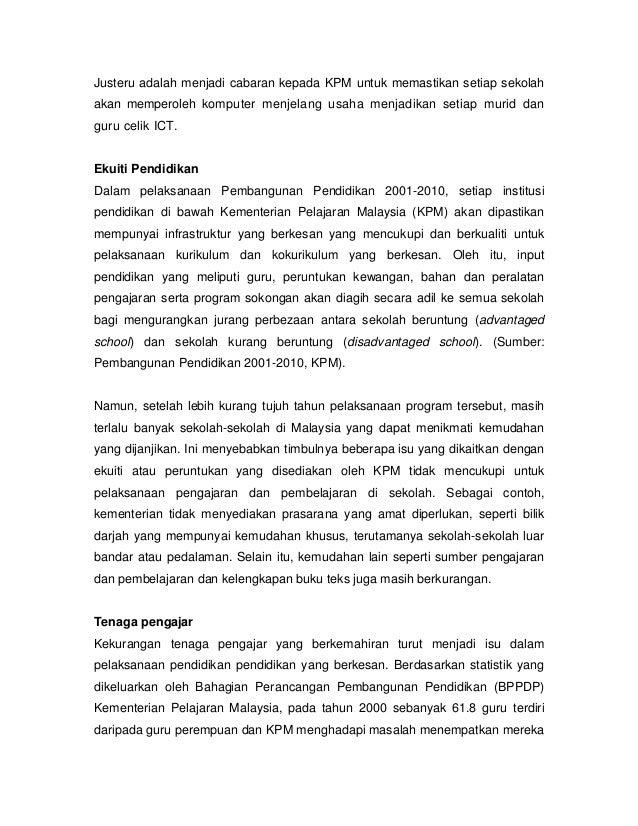 Isu Isu Pendidikan Di Malaysia