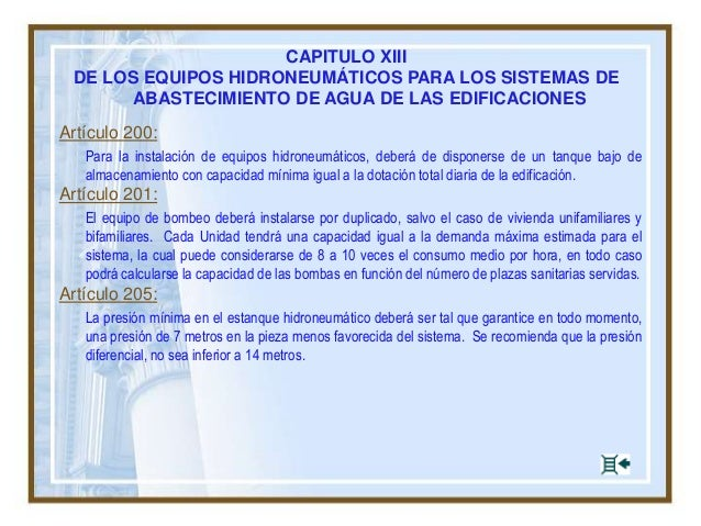 Arquitectura vs instalaciones sanitarias for Estanque hidroneumatico