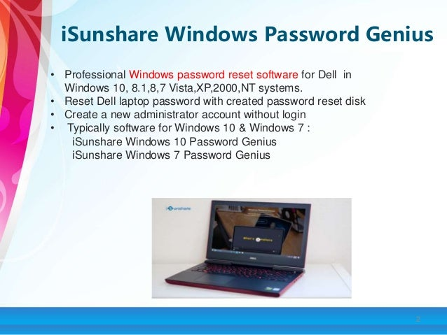 how to reset a dell laptop without password