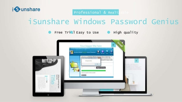 isunshare windows 10 password genius trial