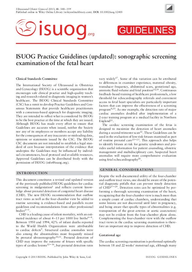 Ultrasound Obstet Gynecol 2013; 41: 348–359 Published online in Wiley Online Library (wileyonlinelibrary.com). DOI: 10.100...