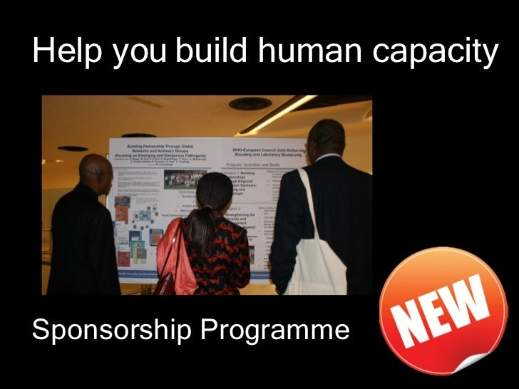 Help you build human capacitySponsorship Programme