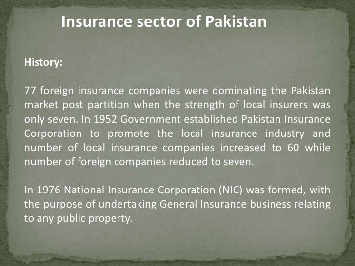 Image result for insurance industry in Pakistan