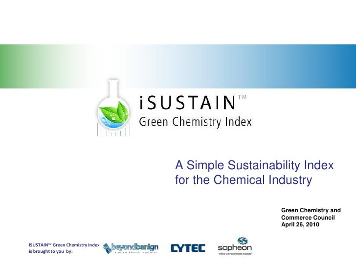 Sustainability and Green Chemistry                                                                            A Simple Sus...