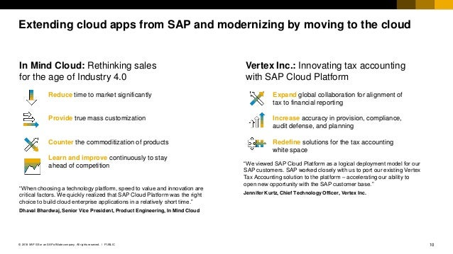 10PUBLIC© 2018 SAP SE or an SAP affiliate company. All rights reserved. ǀ Extending cloud apps from SAP and modernizing by...