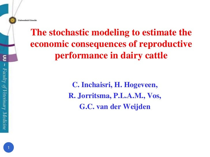 The stochastic modeling to estimate the economic consequences of reproductive performance in dairy cattle<br />C. Inchaisr...
