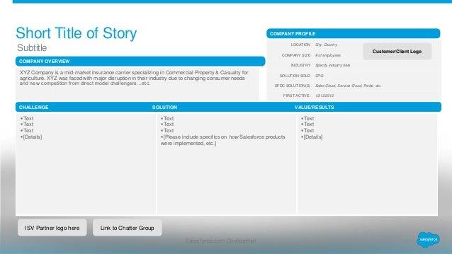 salesforce insurance carrier template  Customer Stories Template for ISV Partners