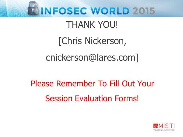InfoSec World 2015: Who clicked Who Cares?