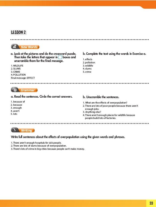 Isw 7 work book- answer key