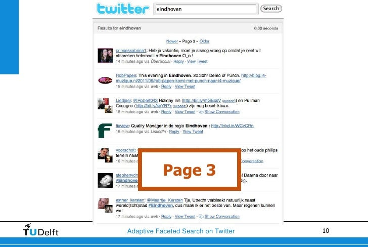 Page 3Adaptive Faceted Search on Twitter   10