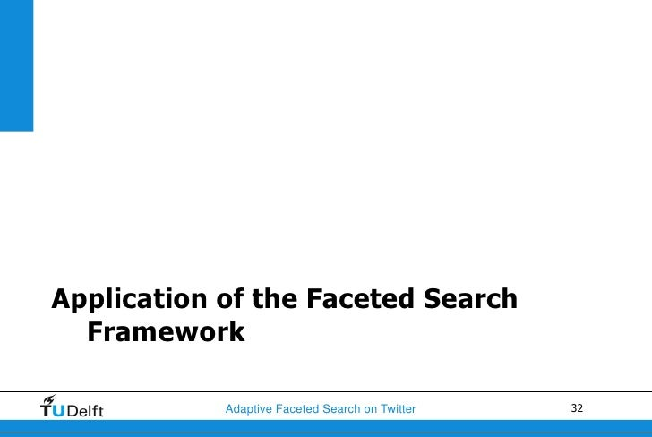 Application of the Faceted Search  Framework            Adaptive Faceted Search on Twitter   32