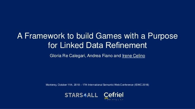 A Framework to build Games with a Purpose for Linked Data Refinement Gloria Re Calegari, Andrea Fiano and Irene Celino Mont...