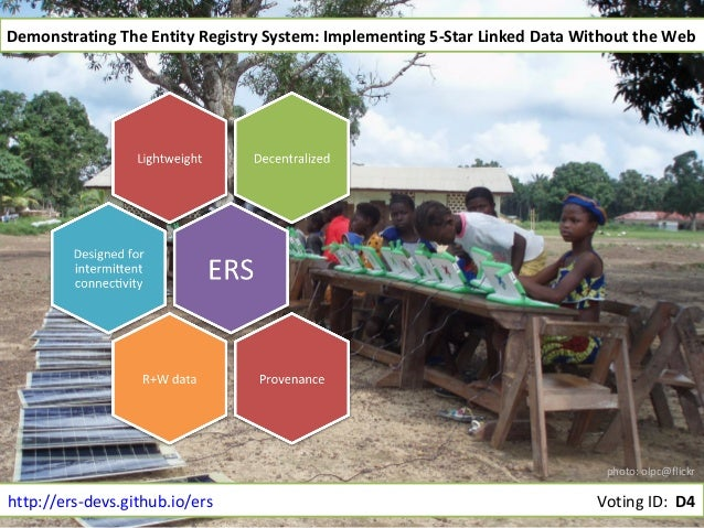 Demonstrating The Entity Registry System: Implementing 5-Star Linked Data Without the Web  photo: olpc@flickr  http://ers-...