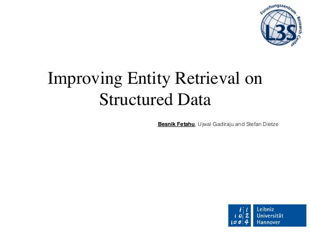 Improving Entity Retrieval on Structured Data Besnik Fetahu, Ujwal Gadiraju and Stefan Dietze