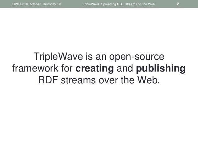 TripleWave: Spreading RDF Streams on the Web Slide 2