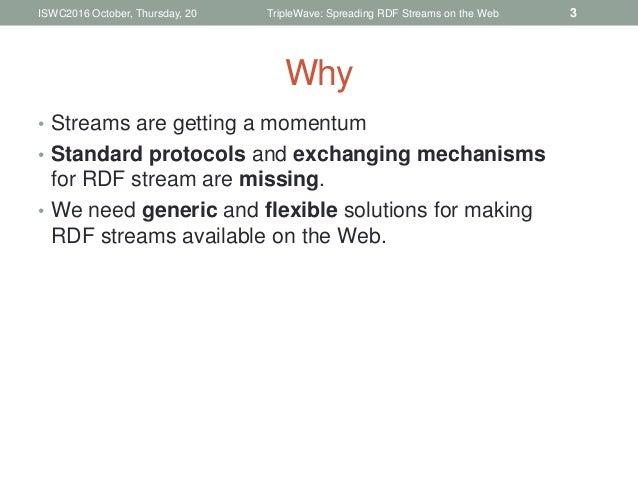TripleWave: Spreading RDF Streams on the Web Slide 3