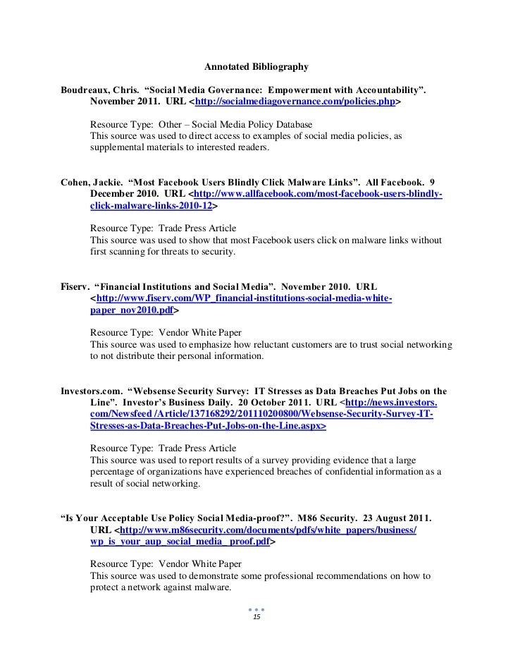 14 15 annotated bibliographyboudreaux chris social media