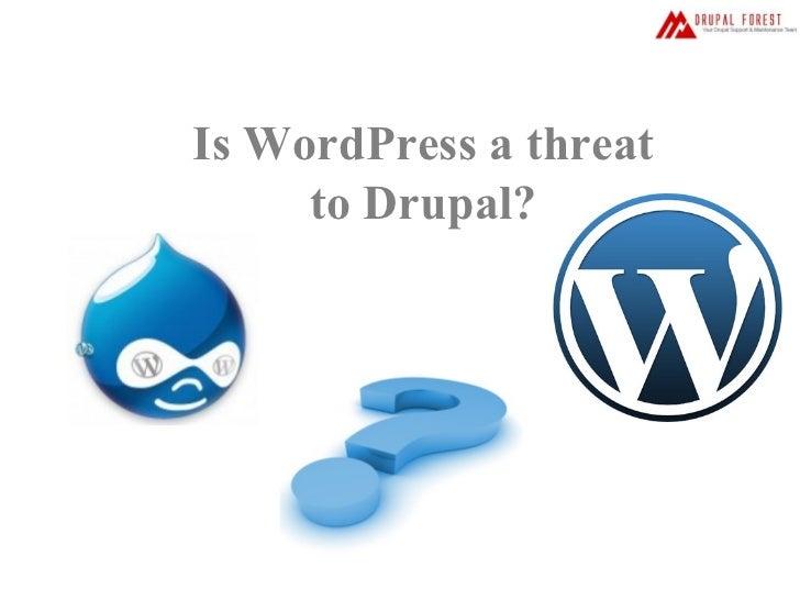Is WordPress a threat to Drupal?