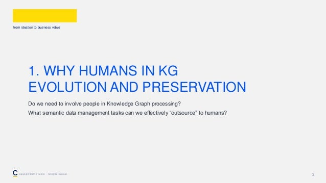from ideation to business value 3 1. WHY HUMANS IN KG EVOLUTION AND PRESERVATION Do we need to involve people in Knowledge...