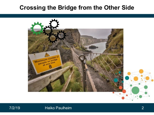 7/2/19 Heiko Paulheim 2 Crossing the Bridge from the Other Side