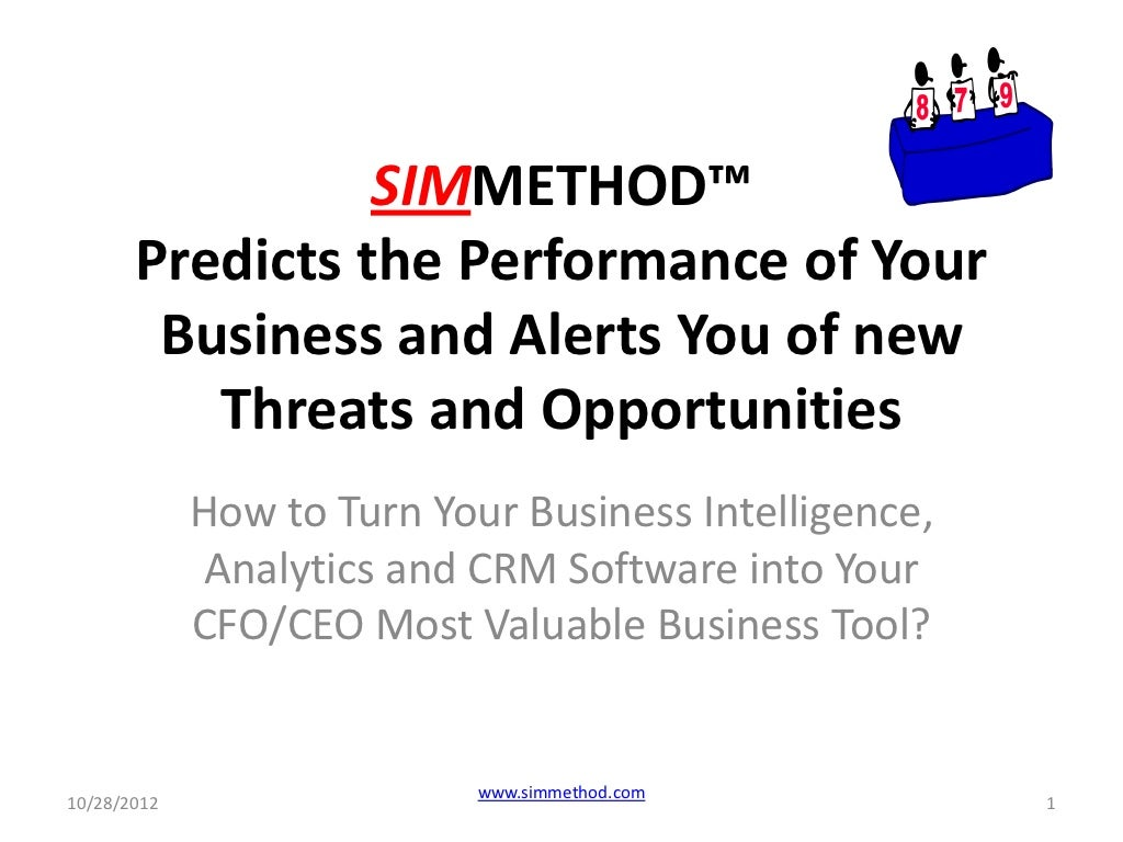 Is your business intelligence, bigdata analytics and crm software your cfo, ceo and cmo most valuable business performance improvement tool